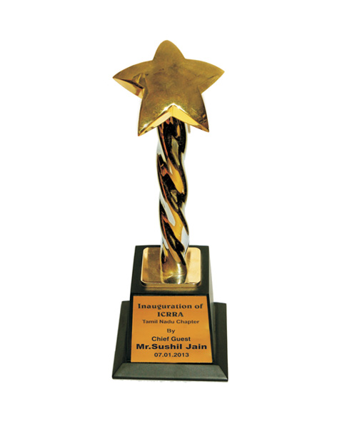 ICRA Award given to our CMD